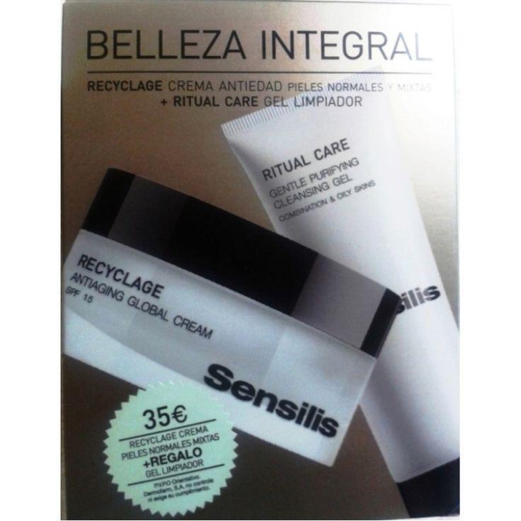 Sensilis Recyclage SPF15 Crema Antiedad 50ml + Gel Limpiador Purificante 75ml