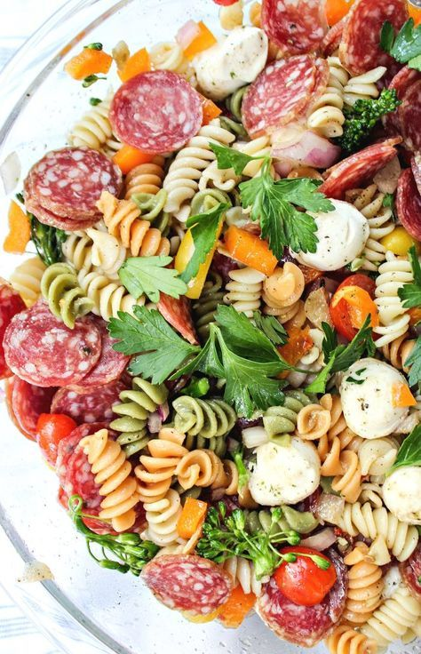 Italian Pasta Salad with Garlic Vinaigrette