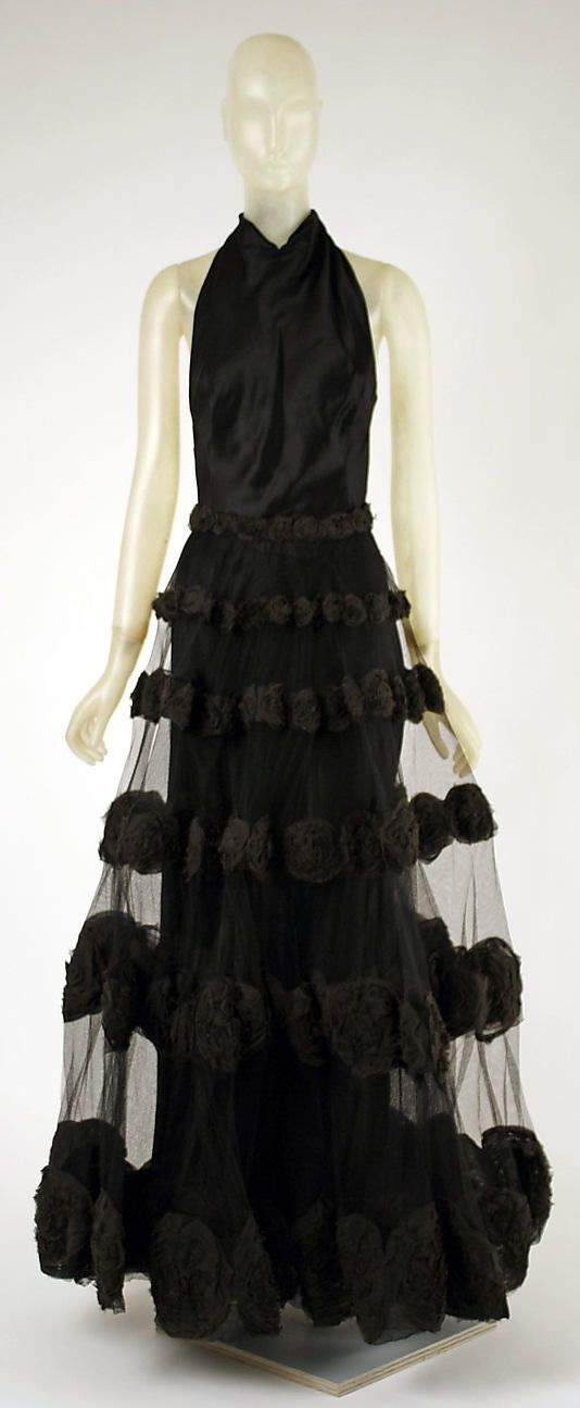 """""""Carnival Dress""""  Madeleine Vionnet (French, Chilleurs-aux-Bois 1876–1975 Paris)  Date: 1936"""