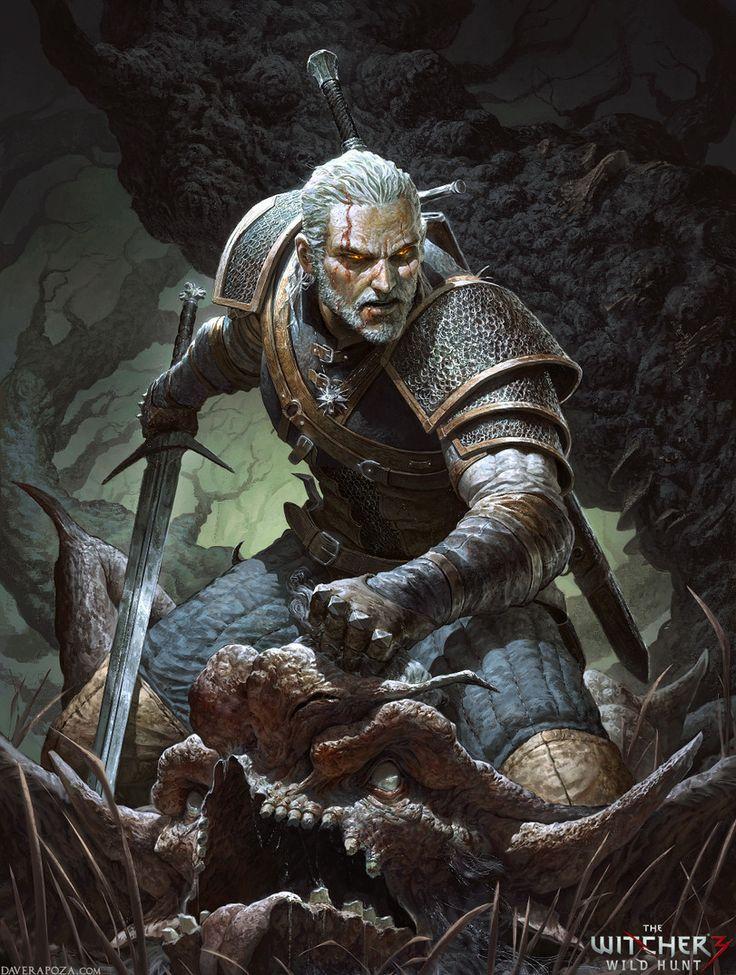DavidRapozaArt,The Witcher 3,Ведьмак 3,The Witcher,Ведьмак, Witcher, ,Игры,game art
