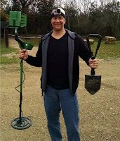 This is me with my Garrett AT Pro 2500, my GoPro camera and an army shovel.