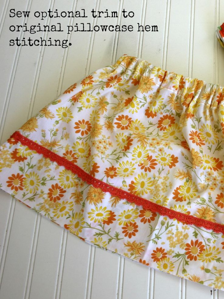 Easy Pillowcase Skirt Tutorial \u2013 Skirting The Issue & 562 best Sewing for Girls images on Pinterest | Sewing ideas ... pillowsntoast.com