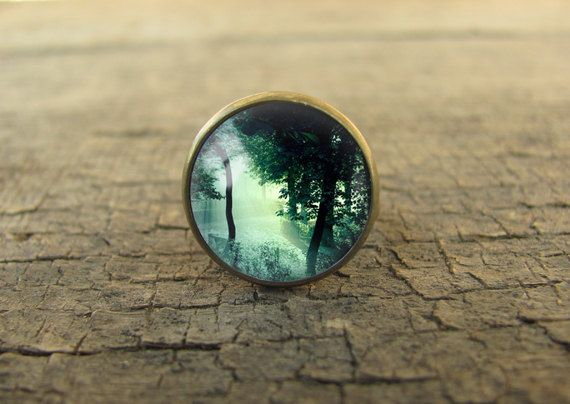 forest ring tree ring forest jewelry nature ring by CastleOfDragon