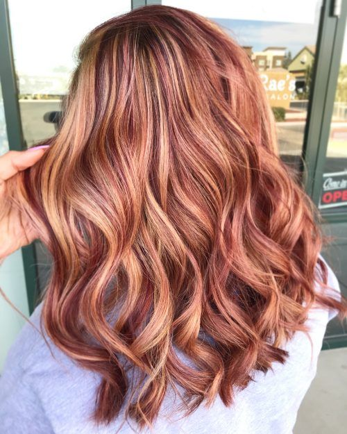red and blonde hair color