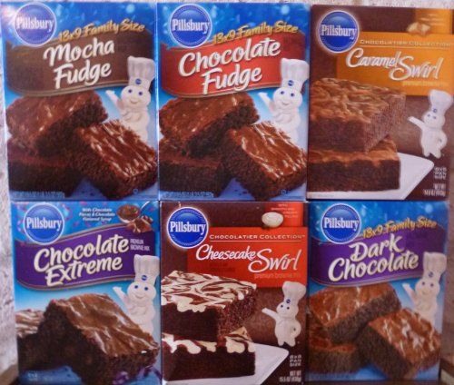 Pillsbury Brownie Mix Small Sampler 135195oz Box Pack of 6 Different Flavors Small Sampler 1 6 Different Flavors ** For more information, visit image link.(This is an Amazon affiliate link and I receive a commission for the sales)