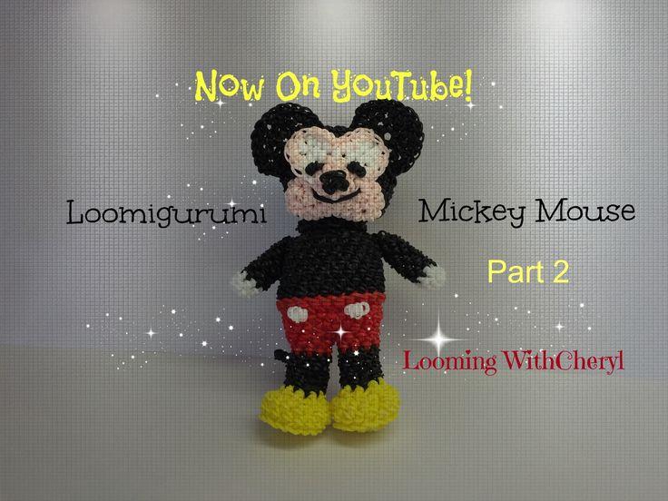 Rainbow Loom Amigurumi Mouse : Rainbow Loom Mickey Mouse - Loomigurumi Part 2 of 2 ...