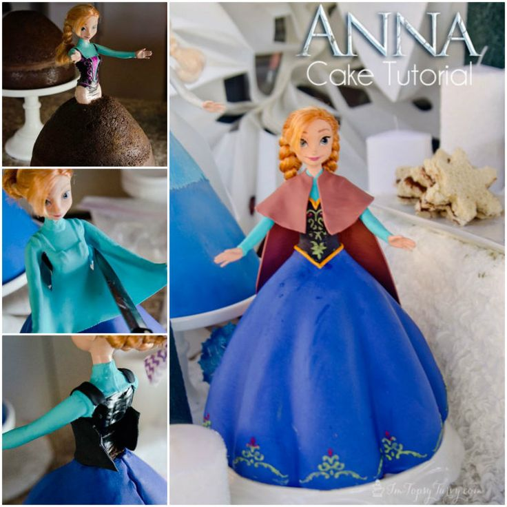 Frozen Anna Cake Tutorial!