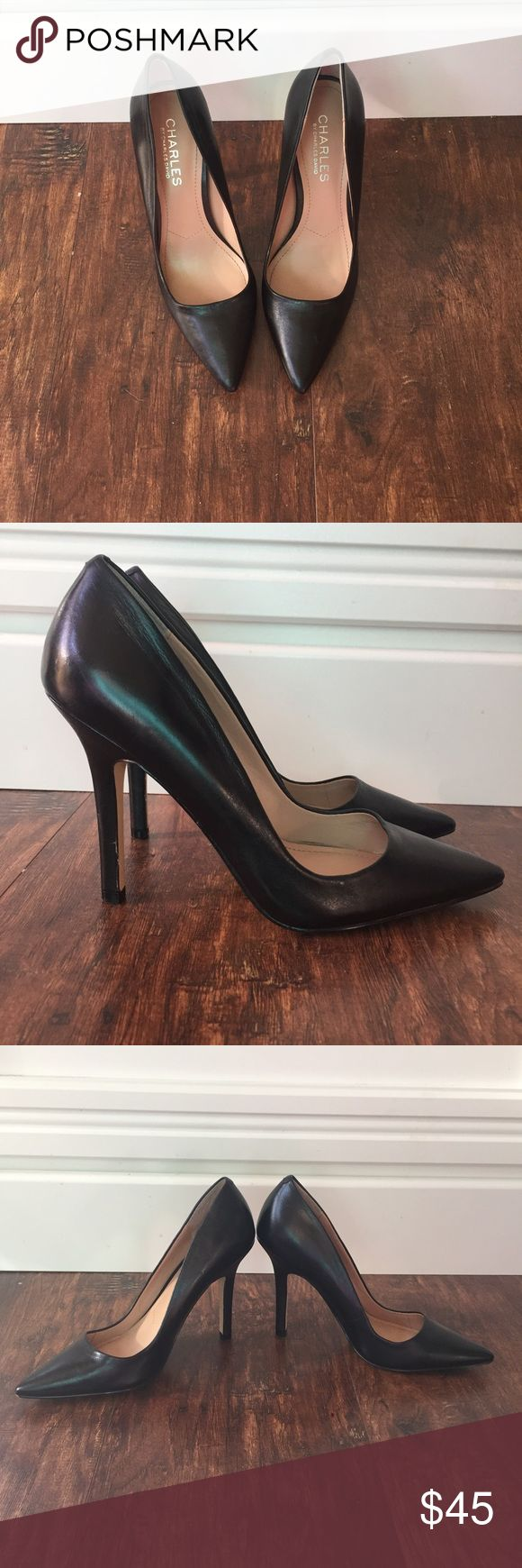 Charles by Charles David Pointed Black Heel Charles by Charles David black pointed toe pump. A classic shoe that pairs great with jeans or slacks for work. Excellent Used Condition. Charles David Shoes Heels