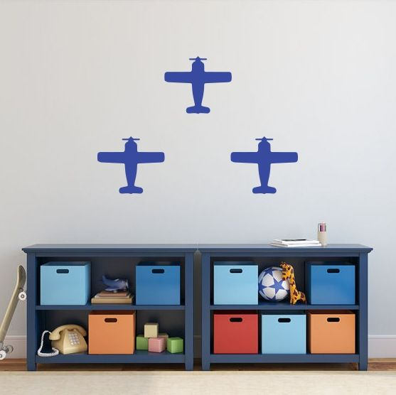 Image of Three Planes Wall Decals (Set)