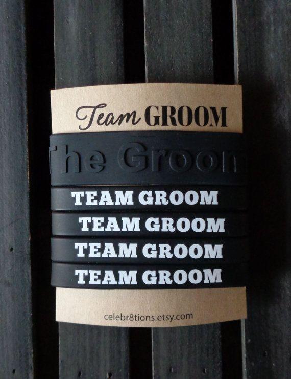 Team Groom,  Weddings, Bachelor Party, Wristbands, Black, The Groom