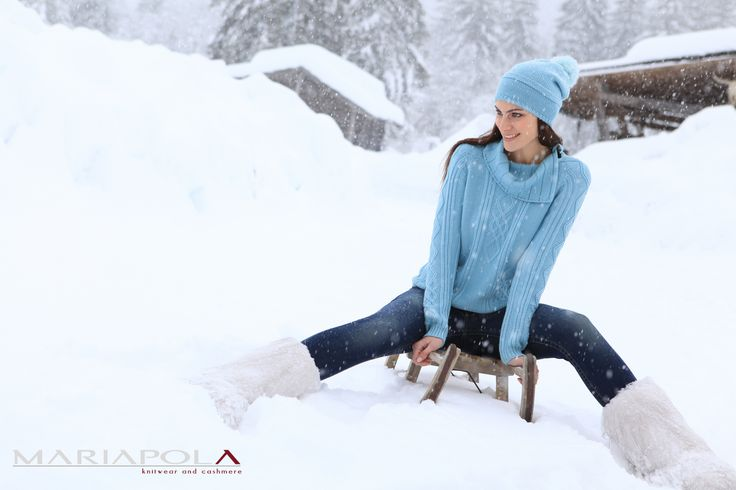 """""""Nordic Wild"""" Mariapola Knitwear in Merinos & Cashmere Wool. Italian Manifacture and Fashion. Fall Winter 2014-2015.#winter#girl#freedom#natural#snow #wild #nature #woods #north #fun"""