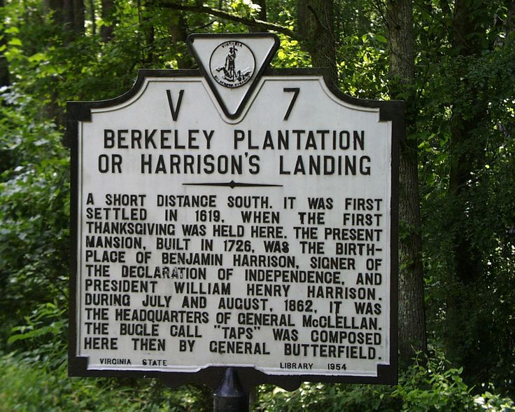 Visit Berkeley Plantation, land  where the first Thanksgiving was held. Harrison's Landing/Westover Virginia