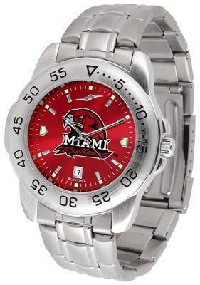 Miami University Of Ohio Redhawks Sport Steel Band Ano-chrome - Men's - Men's College Watches by Sports Memorabilia. $59.95. Makes a Great Gift!. Miami University Of Ohio Redhawks Sport Steel Band Ano-chrome - Men's