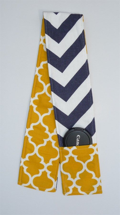 Chevron Camera Strap Cover With Lens Pocket {Jane Deals}