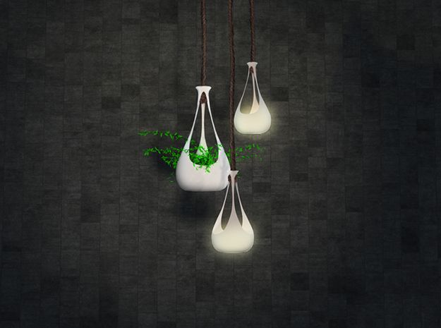 Hanging vase/planter (medium) 3d printed Accessories Lighting