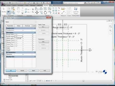 Easy Revit (2011) - 9.2 - Create Window Component - YouTube