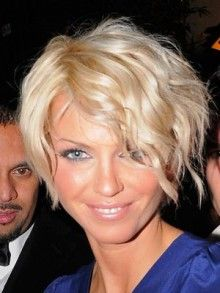 love the front and the curls!! short hair icon sarah harding