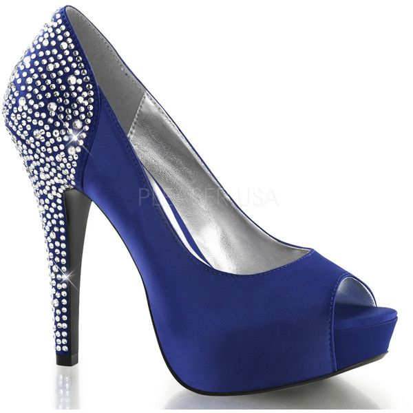 Pleaser Fabulicious LOLITA-08 Royal Blue Satin (105 AUD) ❤ liked on Polyvore - The 25+ Best Royal Blue High Heels Ideas On Pinterest Royal Blue