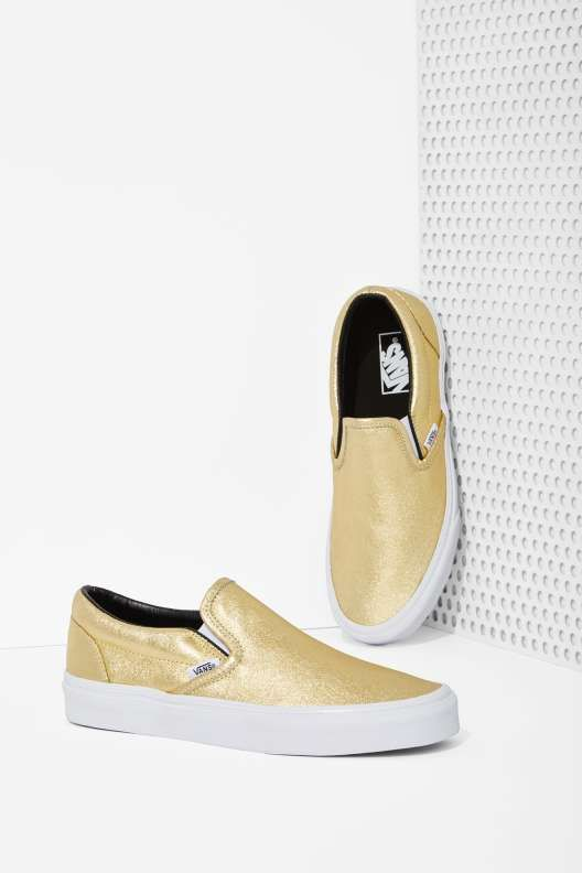Vans Classic Slip-On Sneaker - Metallic Gold - Sneakers