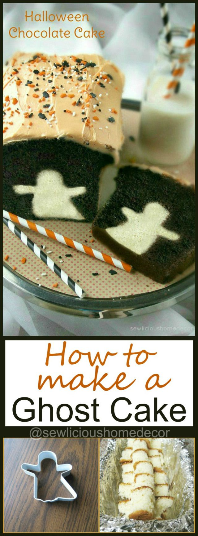 How To Make A Halloween Ghost Cake. sewlicioushomedecor.com