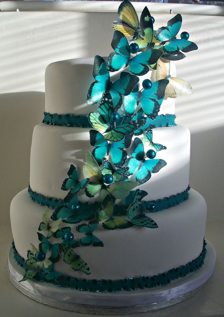 turquoise and white wedding cake with diamonds 100 ideas to try about butterfly wedding cakes sugar 21301