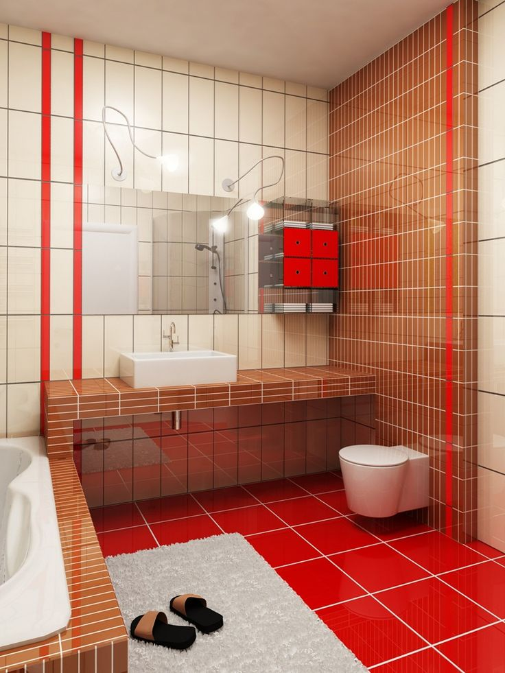 Small Bathroom Ideas Red 26 best home: bathroom images on pinterest | room, bathroom ideas