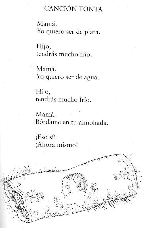Poema de Federico García Lorca, autor de la Generación del 27.