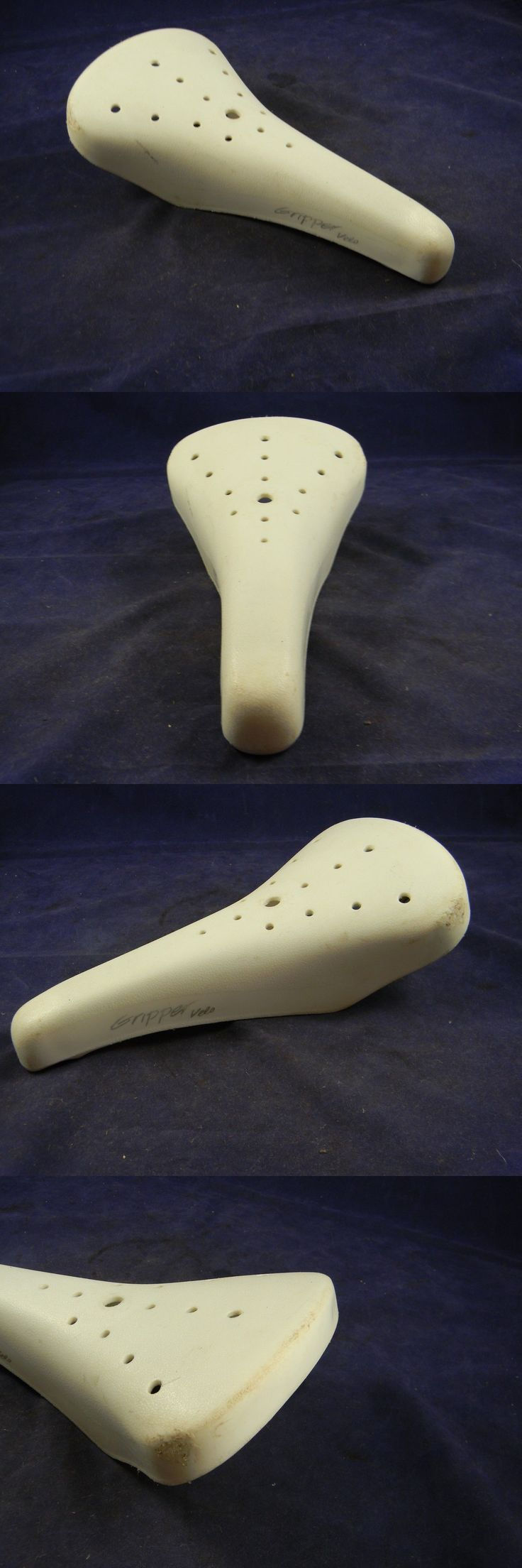 Vintage Bicycle Parts 56197: Vintage Gripper Velo Bmx White Seat Saddle Old School Vl-100 Bike Bicycle Cycle BUY IT NOW ONLY: $65.0