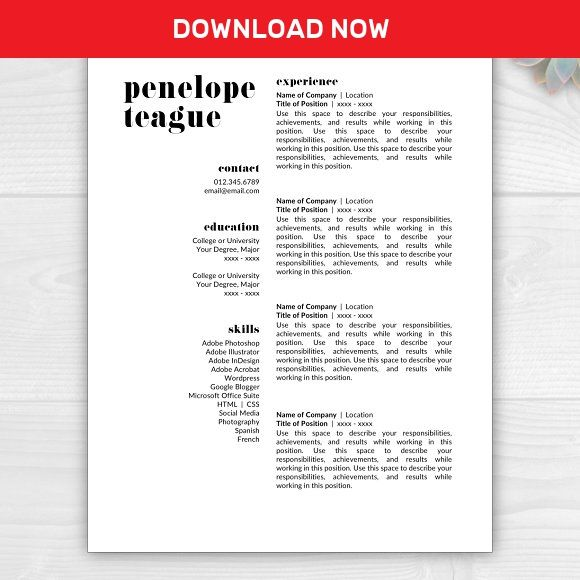 3587 best Best Resume Templates images on Pinterest Resume - adobe indesign resume template