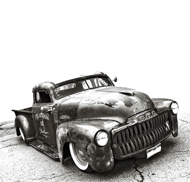 Nicely Chopped GMC Advance Design Pickup... The Grille