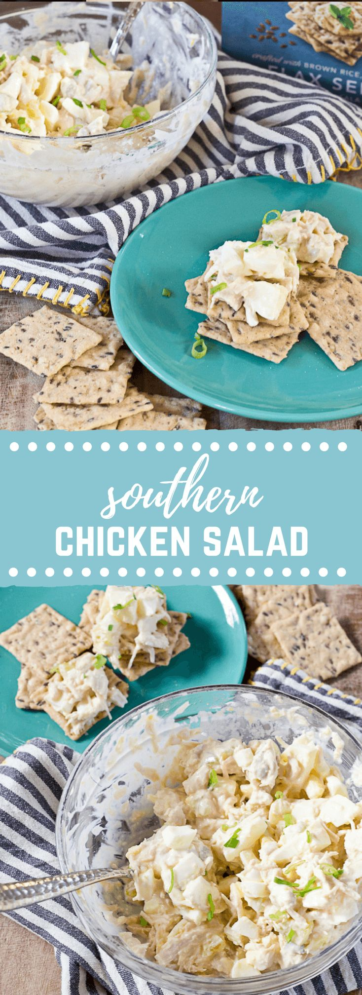 You've gotta make this easy Southern Chicken Salad....hard boiled eggs, relish, celery and mayo. Make life and meal prep simple with this classic recipe.