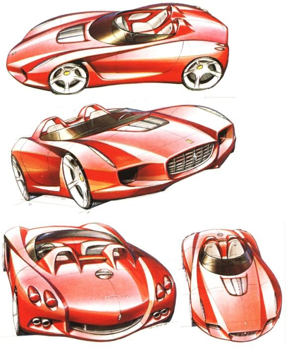 Ferrari Concept Design SketchCars Design, Cars Sketches, Cars Collection, Concept Design, Design Sketches, Concept Cars, Italian Supercars, Awesome Cars, Ferrari Concept