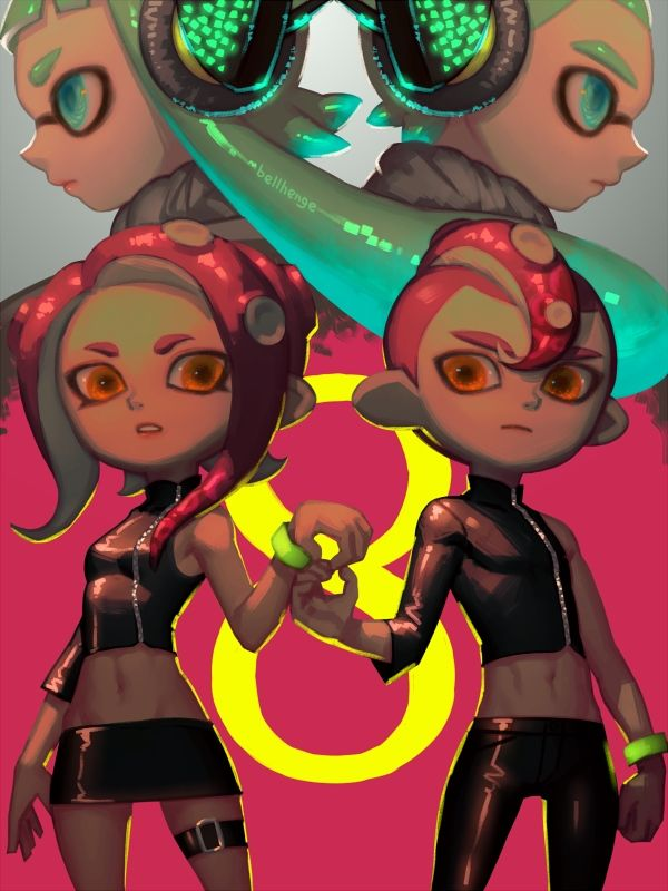 Agent8 And Agent3 By Bellhenge Splatoon Splatoon Comics