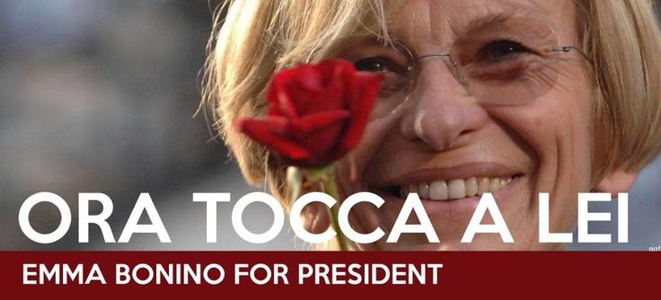 #EmmaForPresident #EmmaBonino #Bonino #BoninoPresidente