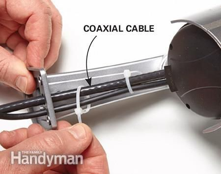 10 Safe Home Security Tips: Make fake home security cameras look real with this tip: add fake coax cables. Get the tips: http://www.familyhandyman.com/home-security/safe-home-security-tips/view-all