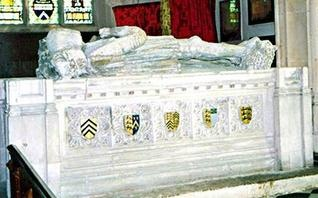 Tomb of Charles Brandon 1st Duke of Suffolk in St. George's Chapel at Windsor Castle. Effigy of both Charles & Mary Tudor. He was buried at the King's expense.