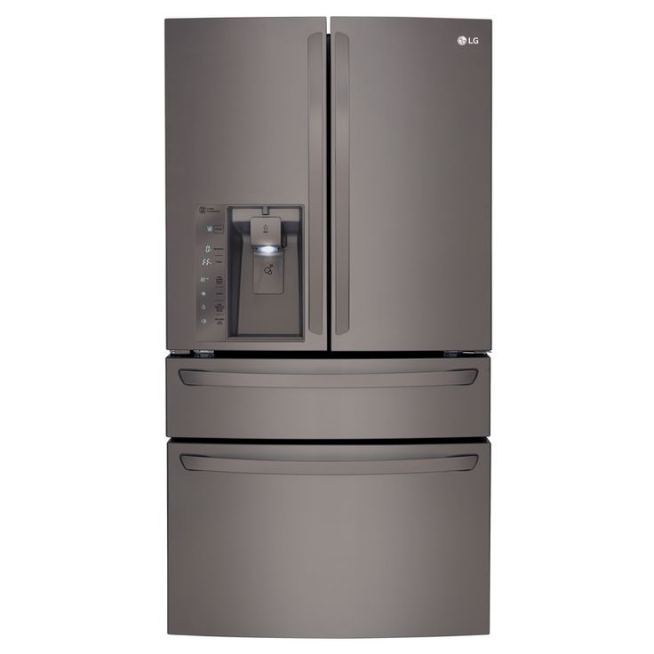 Shop LG Black Stainless 22.7-cu ft Counter-Depth French Door Refrigerator with Single Ice Maker (Black Stainless) ENERGY STAR at Lowes.com