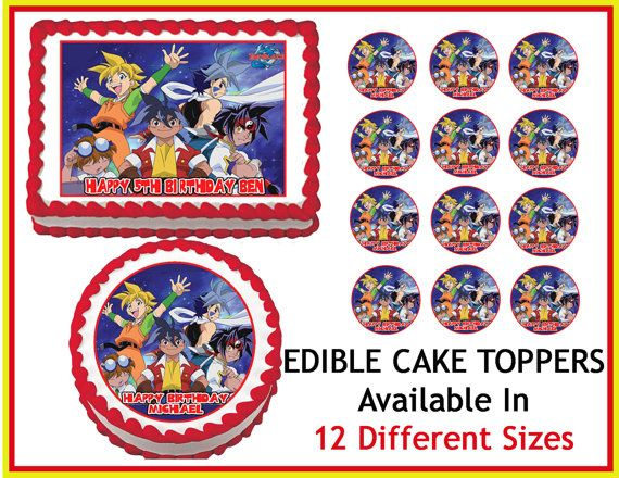 23 best beyblade party images on pinterest birthdays for Anime beyblade cake topper decoration set