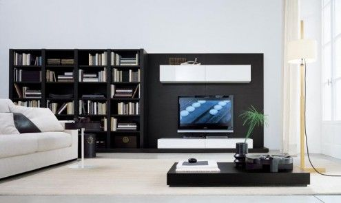 regolo21-495x295.jpg (495×295)  Living room looking a bit dull? Go for the sleek, sexy and stylish Regolo Wall Unit Collection from Italian furniture maker Jesse to bring a little gloss and glamour to your living room. These modern wall units form a convergence of style and functionality and they can transform pretty much any space into a futuristic entertainment base.  Thanks, Freshome for bringing this to our attention.