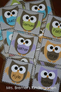 beginning of year cubby labels