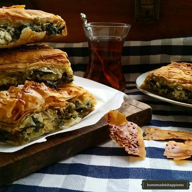 Turkish Borek // Homemade Is Happiness. Find this #recipe plus 25+ more Middle Eastern inspired recipes on our Middle Eastern Feed at https://feedfeed.info/middleeastern?img=398891 #feedfeed