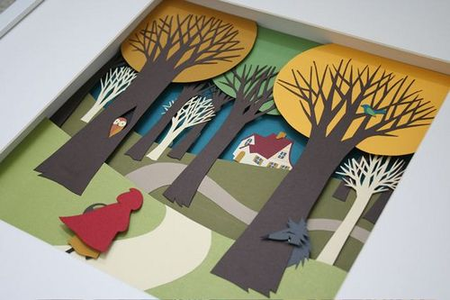 Little Red Riding Hood Paper Diorama | Flickr - Photo Sharing!