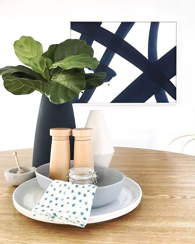 REPOST // The clever team over at @spatialpropertystyling know a thing or two about clean and simple styling elements and this dining room vignette is certainly no exception! Featuring our 'Balancing Act - Evening Ink' artwork from our @shaynnablaze collaboration this epitomises dining in style.