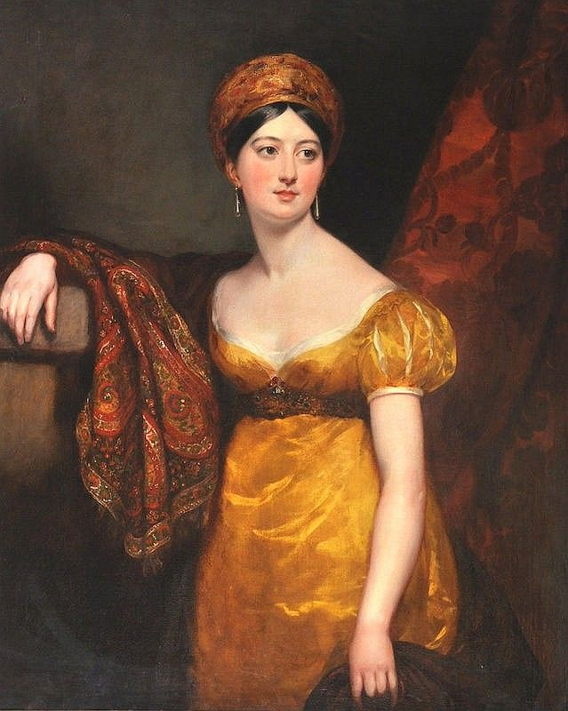By Margaret Sarah Carpenter (1793-1872) British. Portrait of Henrietta Shuckburgh Provenance: Exhibited, Royal Academy 1821 Number 224 as 'Miss Shuckburgh'