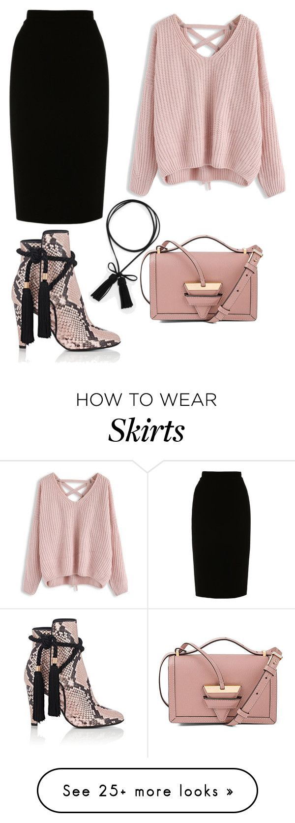 """Pencil skirt"" by amr-a on Polyvore featuring CHARLES & KEITH, Philosophy di Lorenzo Serafini, L.K.Bennett, Chicwish and Loewe"