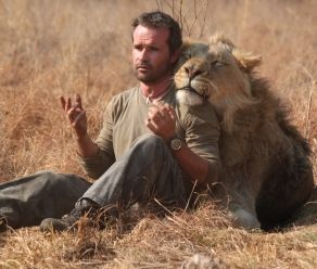 Kevin Richardson cavorts with lions at the Kingdom of the White Lion, Magaliesburg, South Africa.