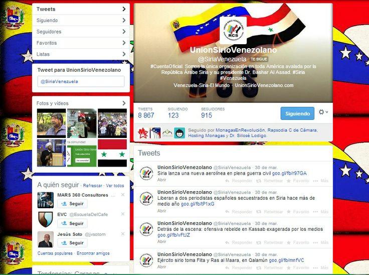 Redes Sociales @Union Sirio Venezolano 2011 - 2014