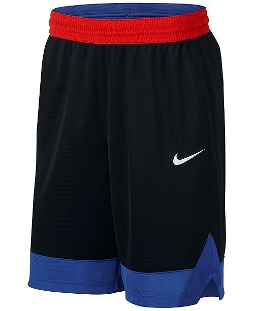 a04f298734ffd Nike Men s Dri-fit Colorblocked Basketball Shorts - Black S ...