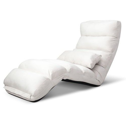 Adjustable Sofa Bed Lounge Chair Fully Foldable Recliner Chaise 75 Positions Ivory  sc 1 st  Pinterest & 17 best Floor Sofa images on Pinterest | Sofa beds Sofas and ... islam-shia.org