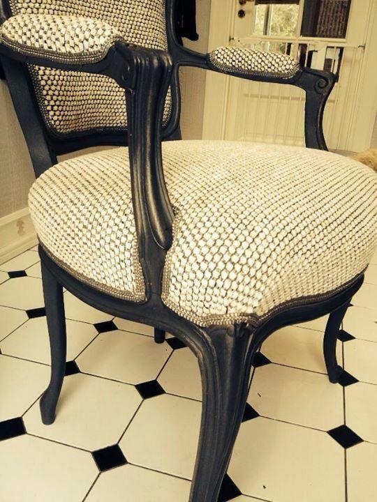Rokoko stol renoveret